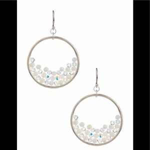 Chan Luu white MOP and Swarovski crystal earrings